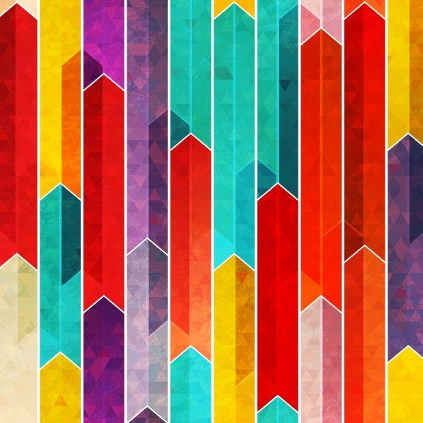 Papel de Parede Geométrico Colorido 66B959