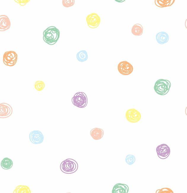 Papel de Parede Bolinhas Coloridas 9048AF