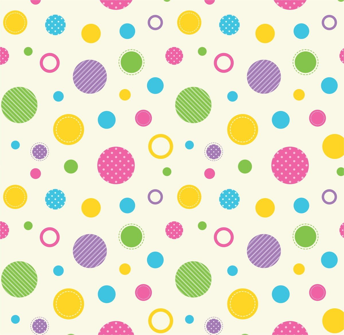 Papel de Parede Bolinhas Coloridas 548CB0
