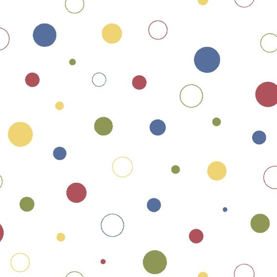 Papel de Parede Bolinhas Coloridas 11AB633