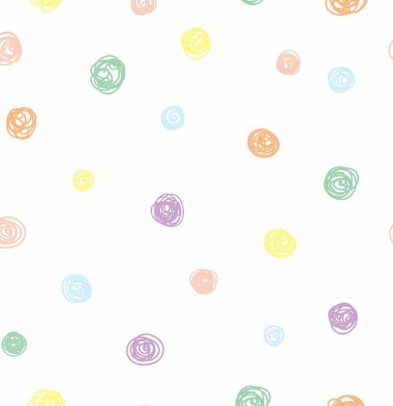 Papel de Parede Bolinhas Coloridas 71A82D