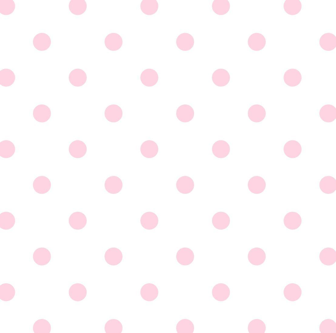 Papel de Parede Bolinhas Poás Rosa 4BB7FC