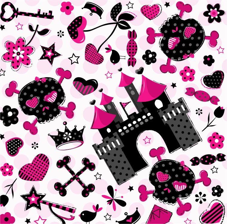 Papel de Parede Castelo Caveira Princesa 40DE42