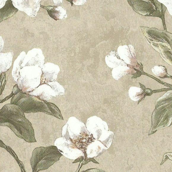 Papel de Parede Cimento Queimado Floral 109DF32