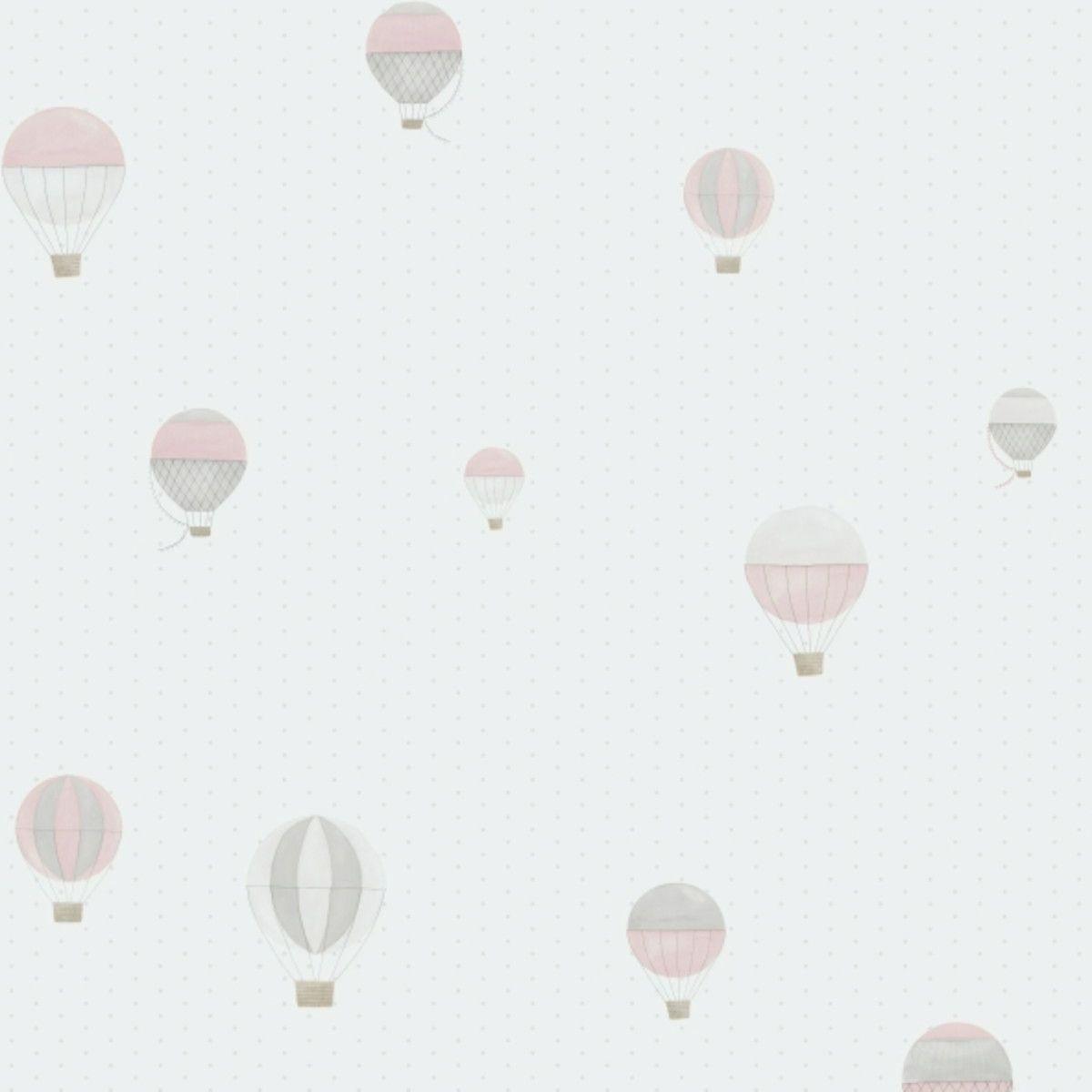 Papel de Parede com Bolinhas Poás e Balões FC3C9A