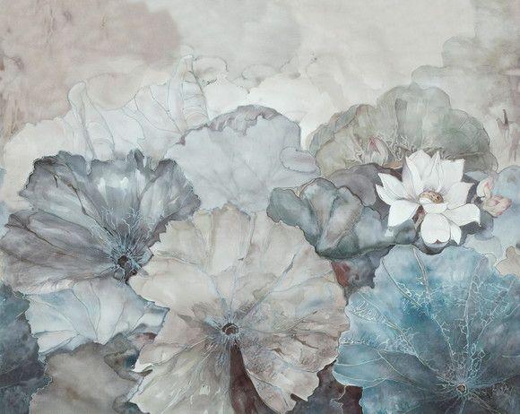 Mural de Parede Contemporâneo Floral Grande F8B098