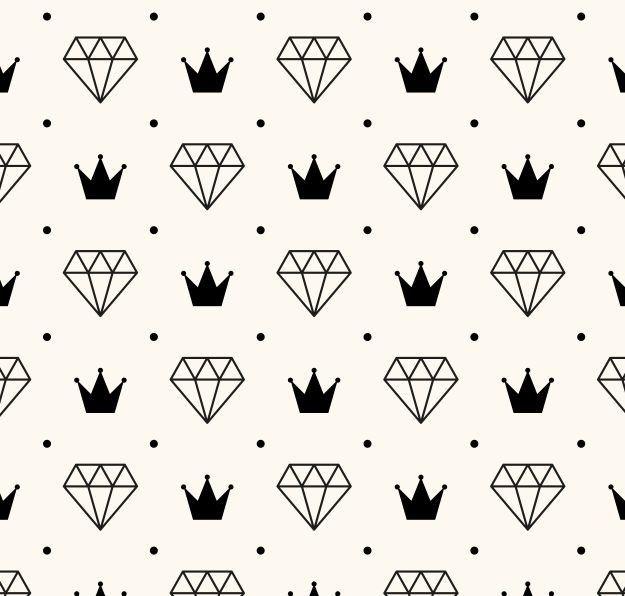 Papel de Parede Coroas e Diamantes 5225AC