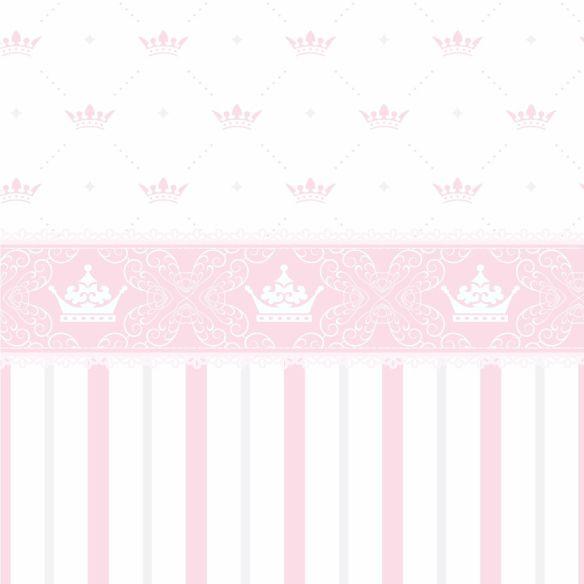 Papel de Parede Coroas, Listras e Faixa Rosa 5FB3B7
