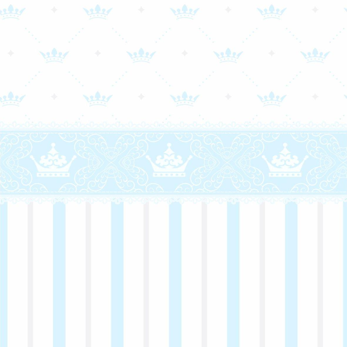 Papel de Parede Coroas, Listras e Faixa Azul 5FB3DA
