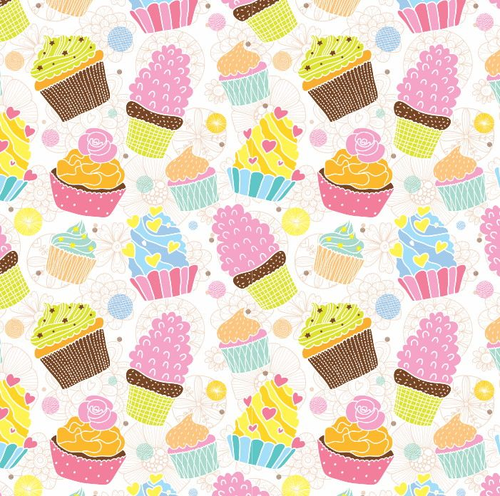 Papel de Parede Cupcakes 4DF811