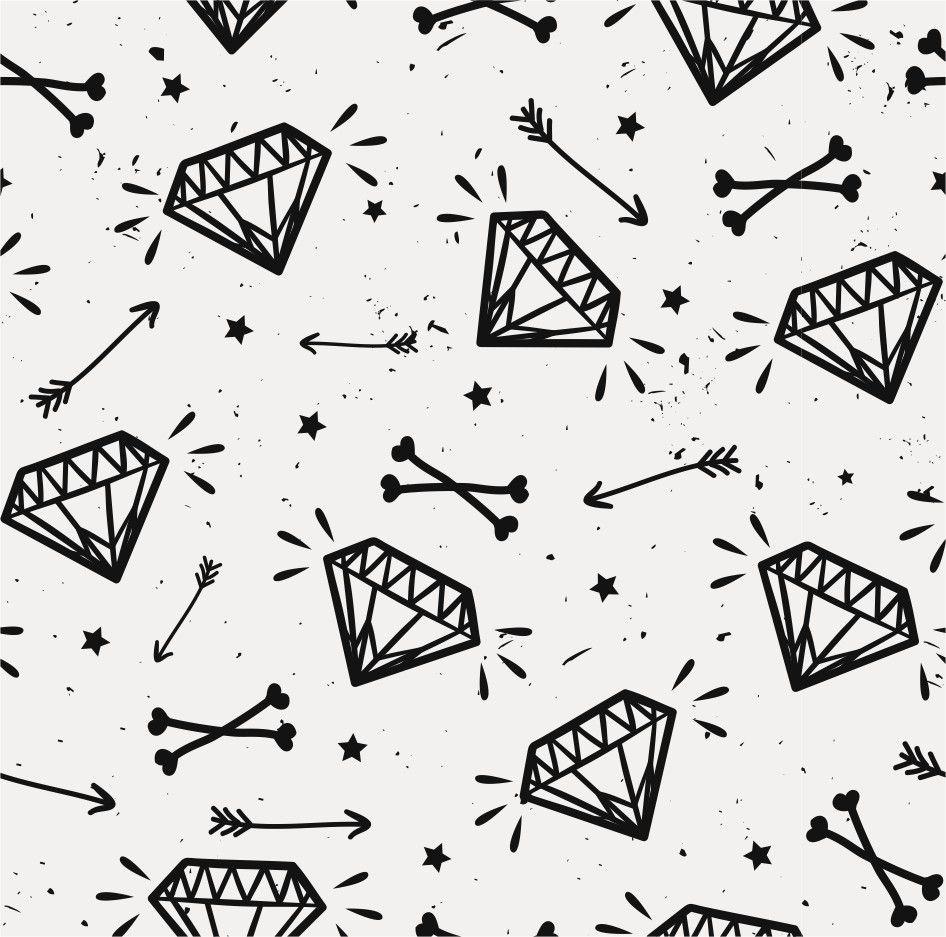 Papel de Parede Diamantes 765478