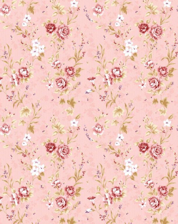 Papel de Parede Flores Florais Rosa 444B7B