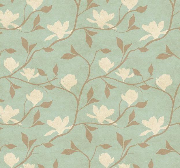 Papel de Parede Flores Florais Retrô 444B63