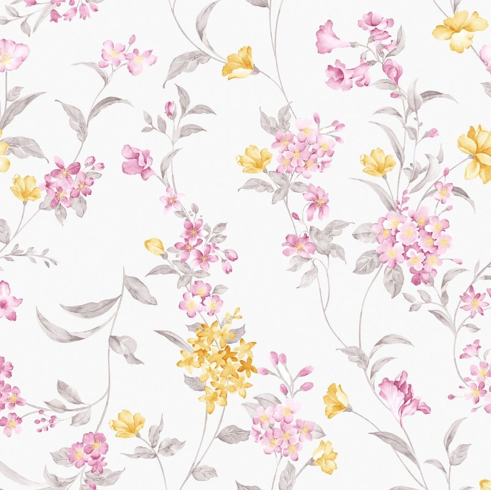 Papel de Parede Flores Florais 444B53
