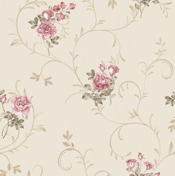 Papel de Parede Flores Floral Arabesco 444B47