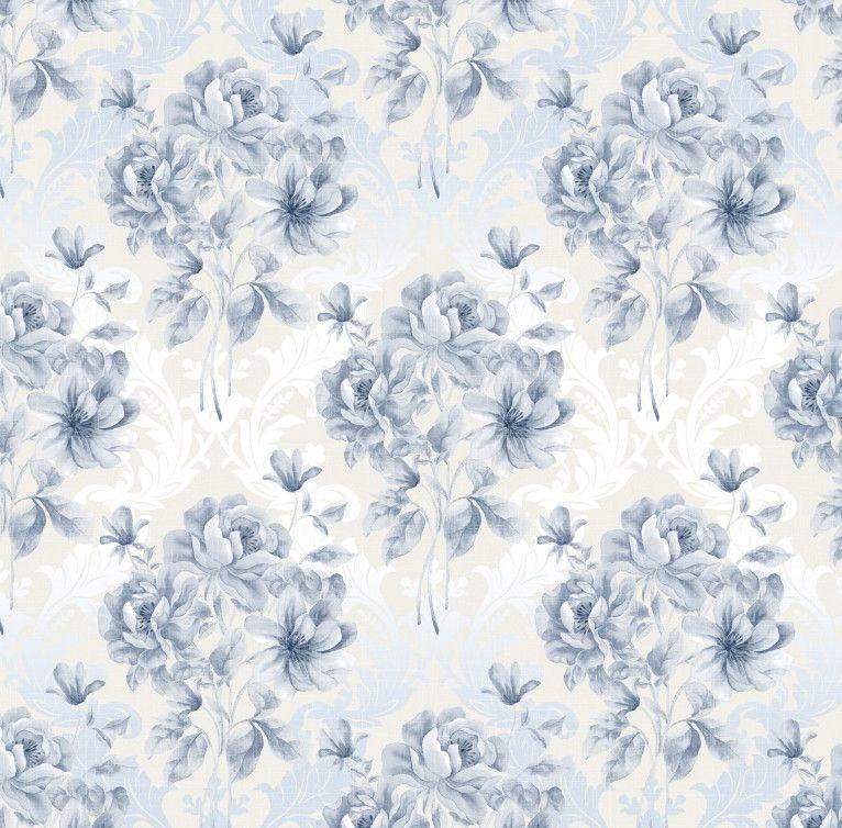 Papel de Parede Flores Florais 444A77