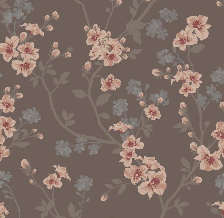 Papel de Parede Flores Florais 40C8BB
