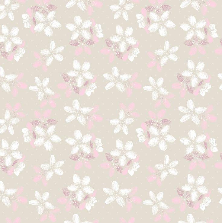Papel de Parede Flores Floral 6B9D5E