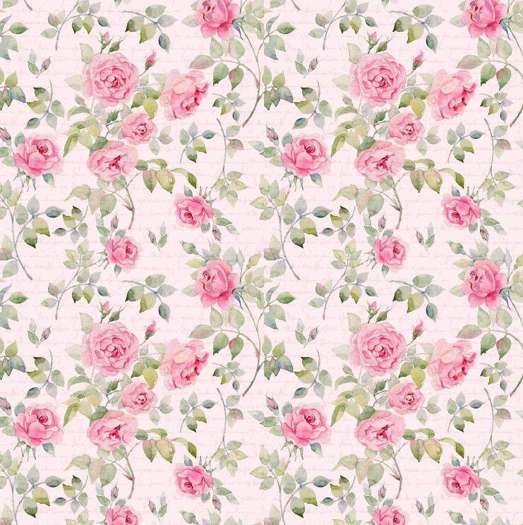 Papel de Parede Flores Floral Rosa 6B37CF