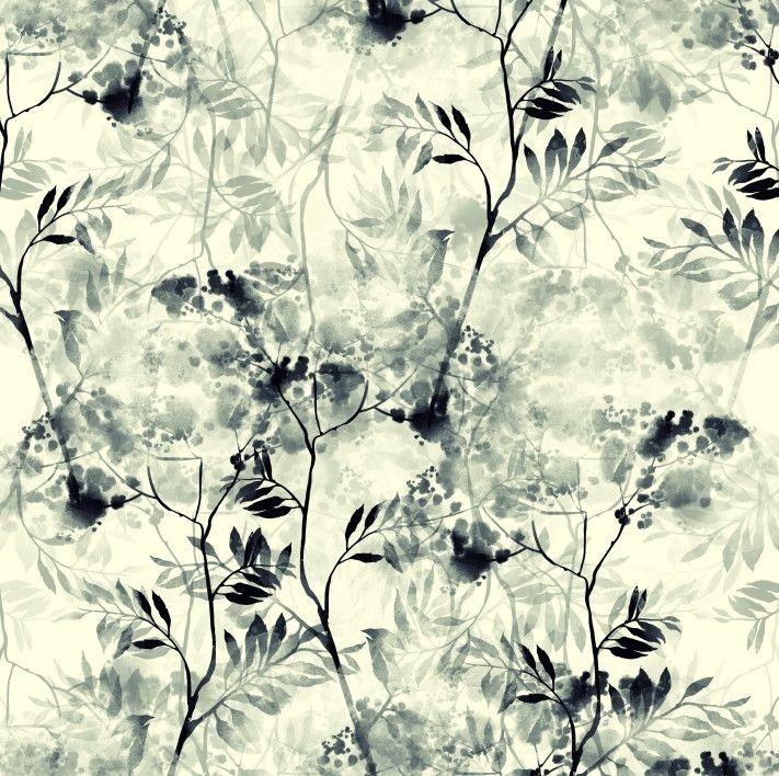 Papel de Parede Galhos e Folhas Aquarela 6B3624