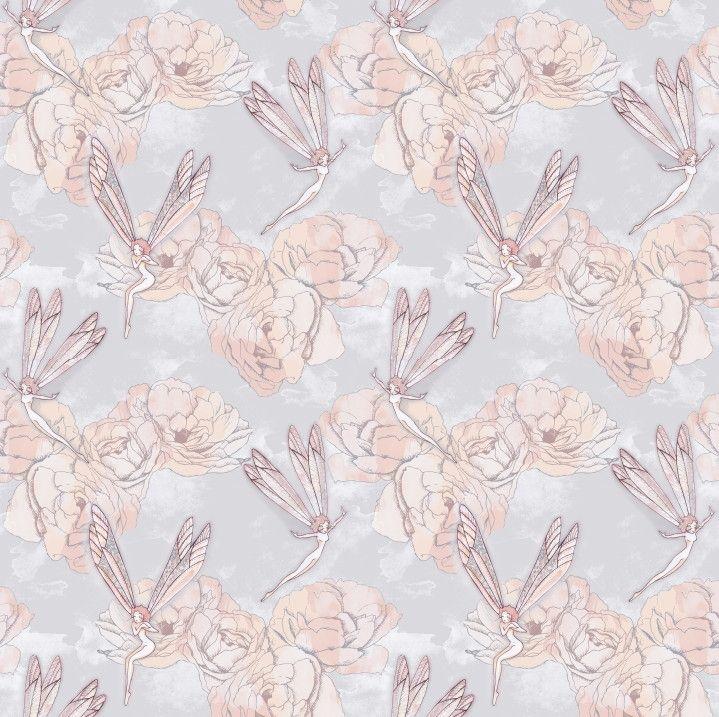 Papel de Parede Flores Floral Fadas 6B3552