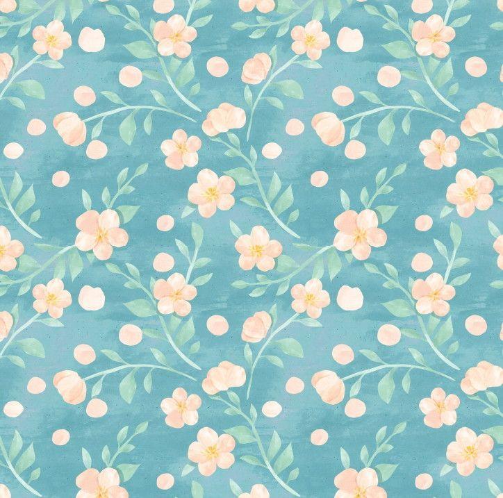 Papel de Parede Flores Floral Aquarela Pastel 6B3506