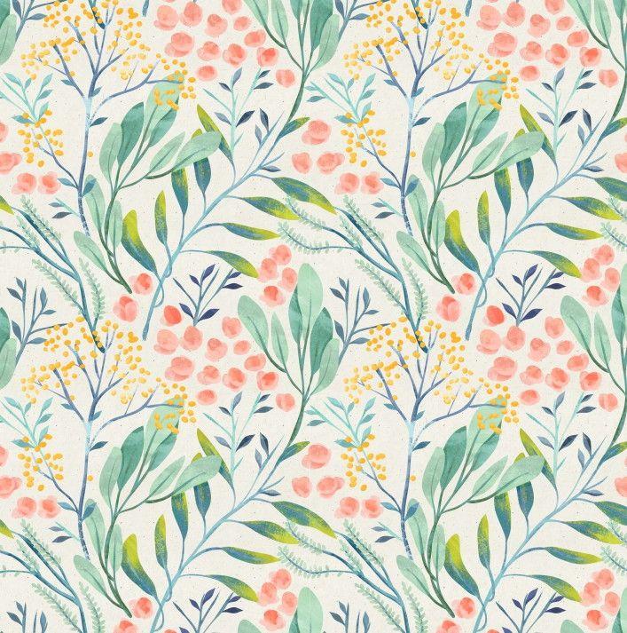 Papel de Parede Flores Florais Aquarela 698180
