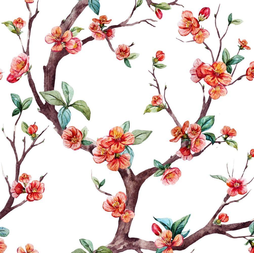 Papel de Parede Flores Florais 68B3A8