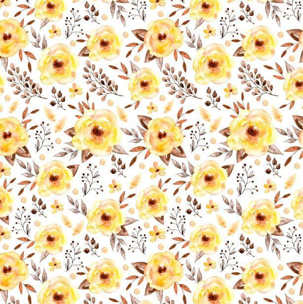 Papel de Parede Flores Floral Aquarela 676DD6