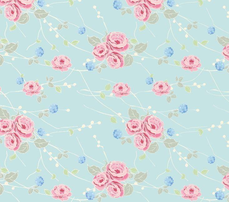 Papel de Parede Flores Floral 48FBC5