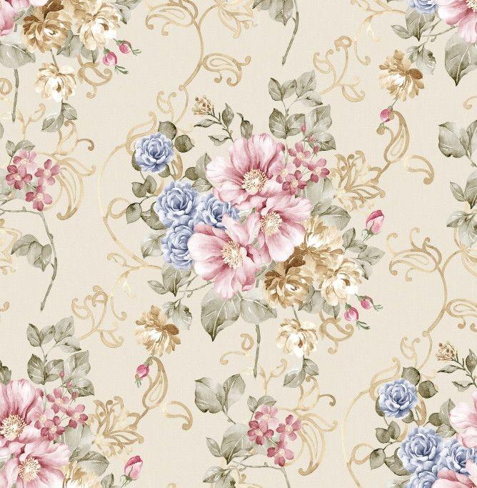 Papel de Parede Flores Floral 8D7355