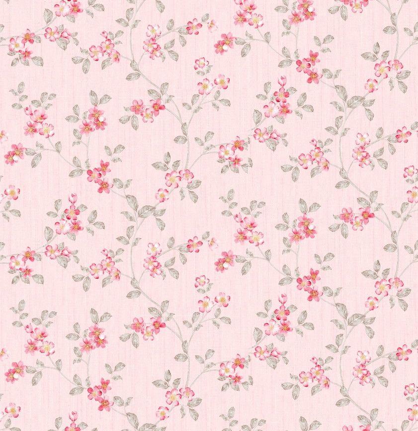 Papel de Parede Flores Floral Rosa 8514C2