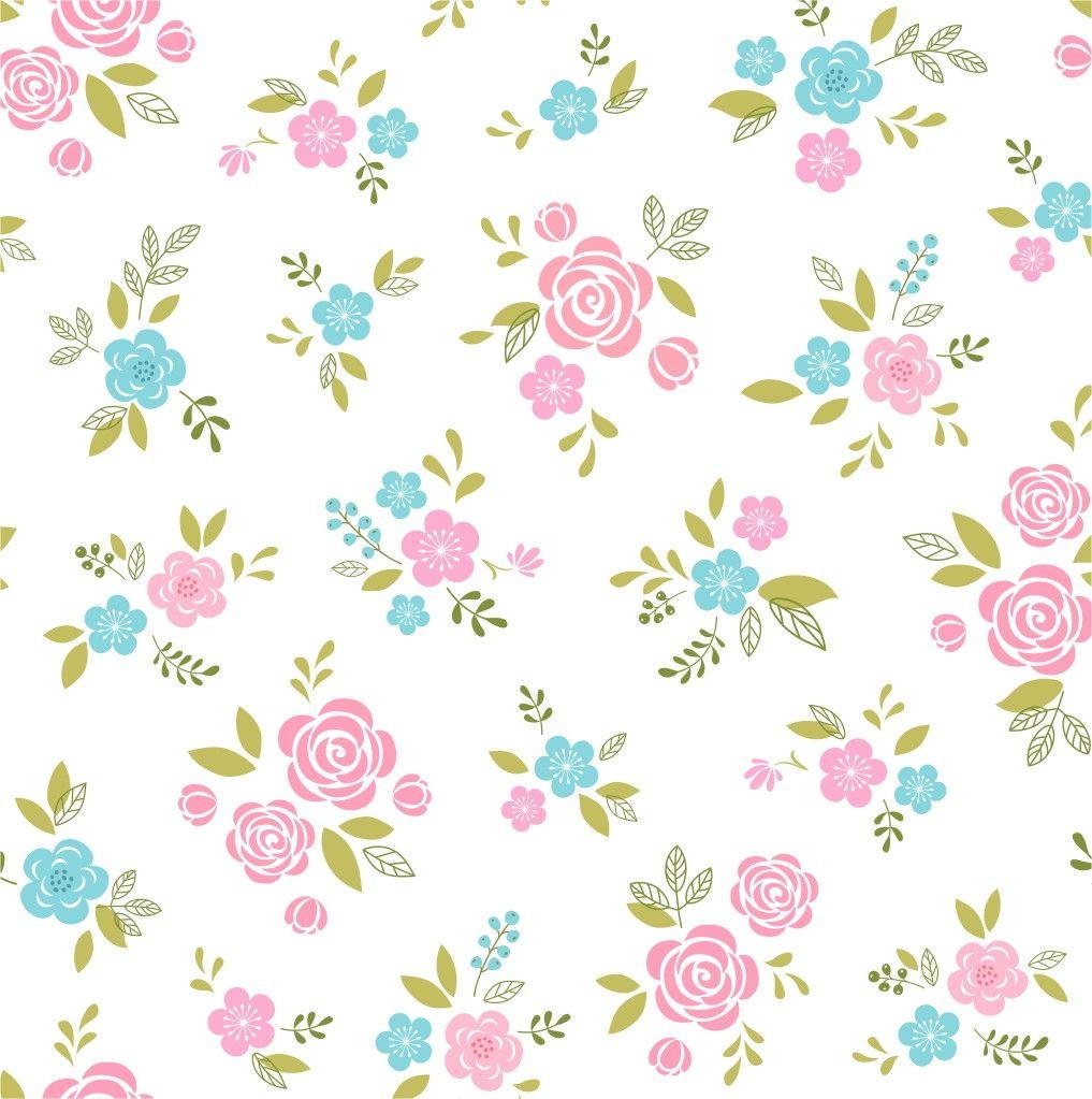 Papel de Parede Flores Floral 7BE5EF