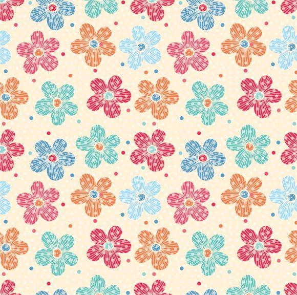 Papel de Parede Flores Floral Poás 6D96F5