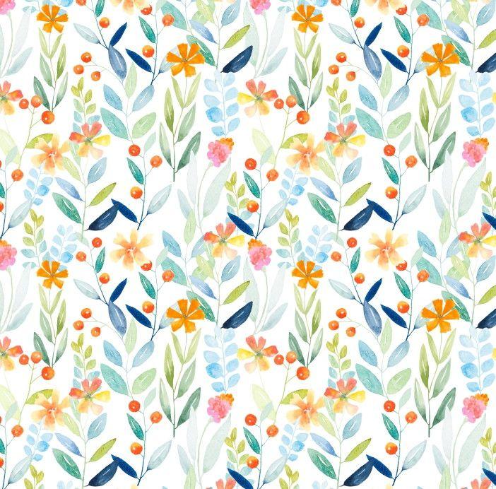 Papel de Parede Flores Florais Aquarela 6981C1