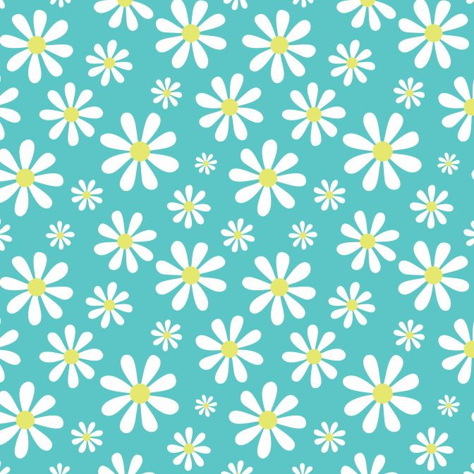 Papel de Parede Flores Florais Margaridas 4E62CC