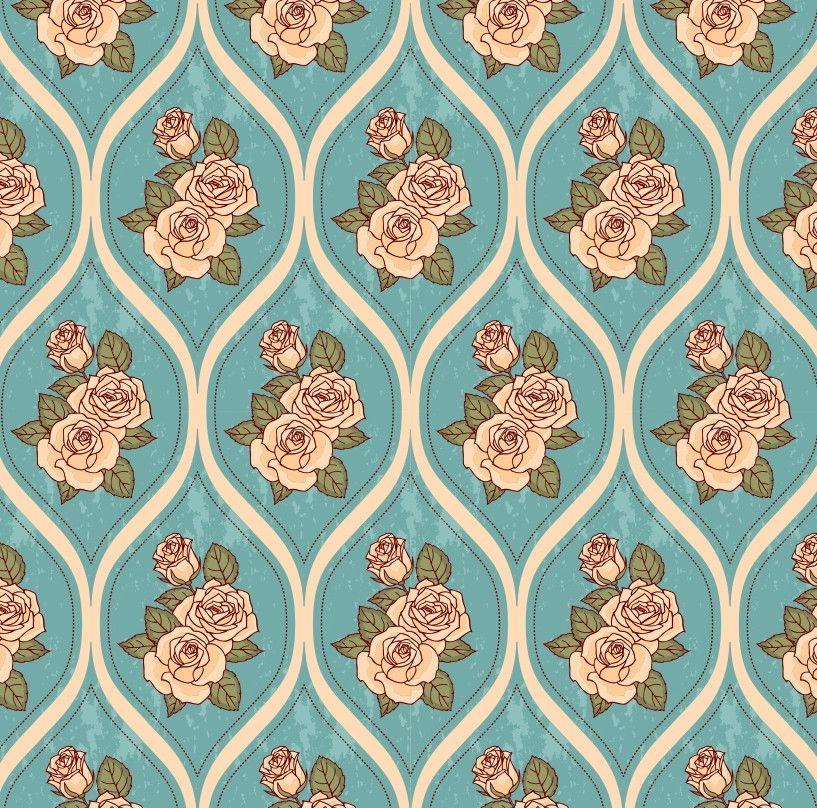 Papel de Parede Flores Floral Vintage Retrô 4A6457