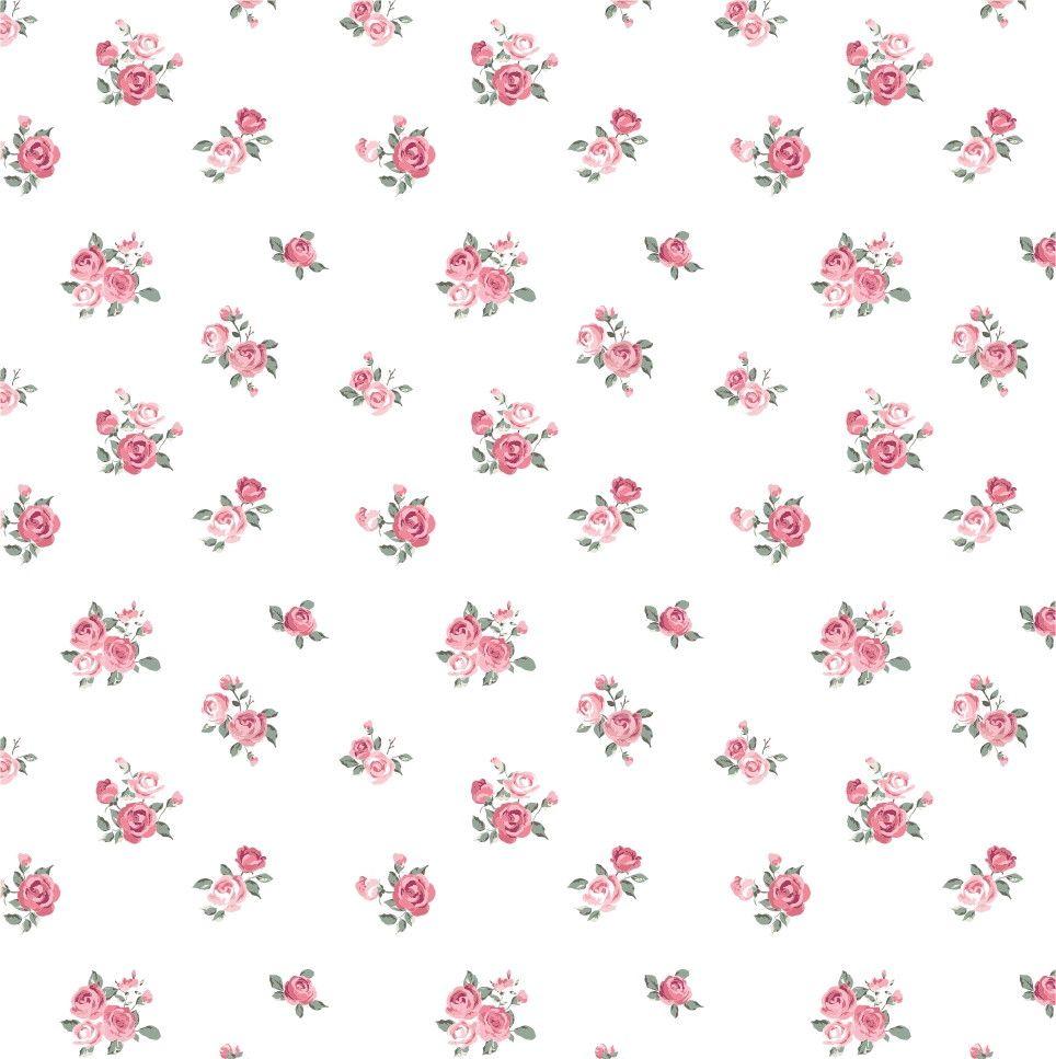 Papel de Parede Flores Floral Rosa 48FD20
