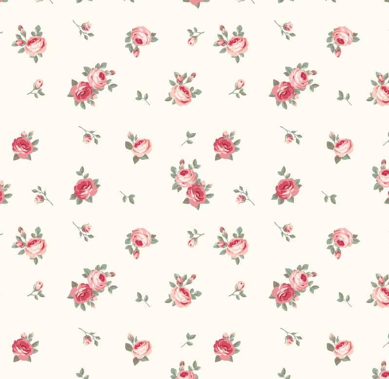 Papel de Parede Flores Floral Rosas 48FCE2
