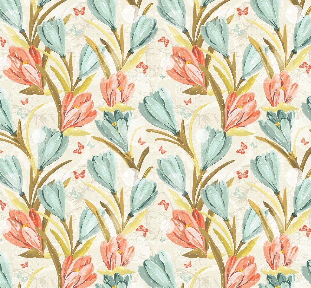 Papel de Parede Flores Florais 3D6B94