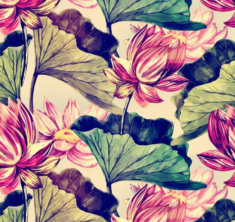 Papel de Parede Flores Floral 7EE89F