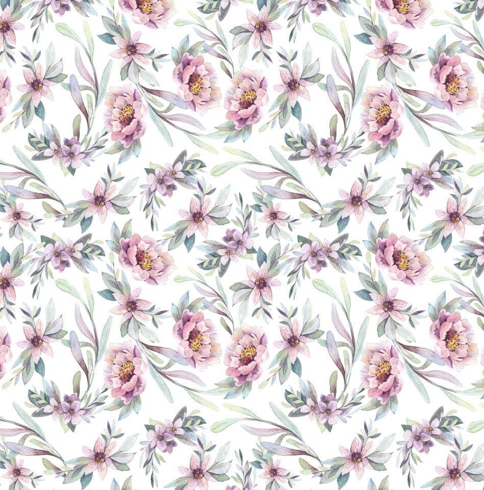 Papel de Parede Flores Floral Aquarela 75E6D3