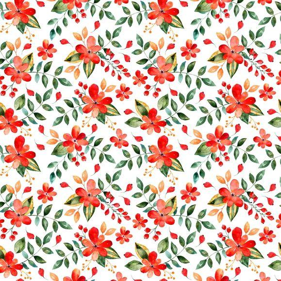 Papel de Parede Flores Floral 75E601