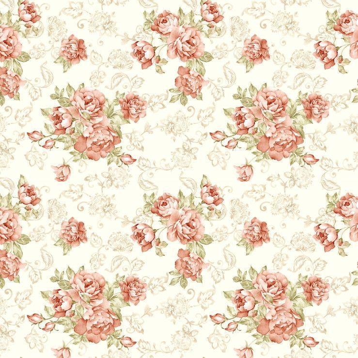 Papel de Parede Flores Floral 6E4E8A