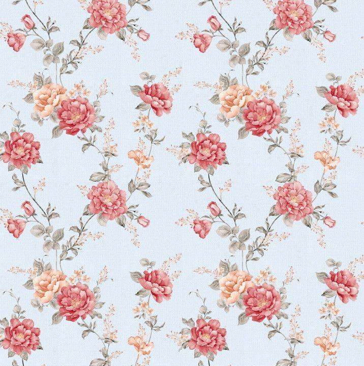 Papel de Parede Flores Floral 6E4D58