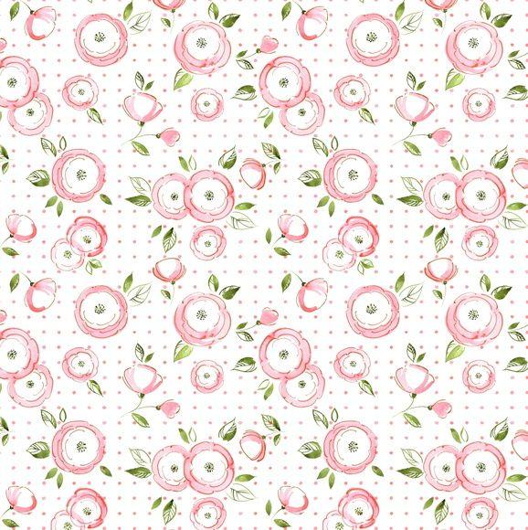 Papel de Parede Flores Floral Poás 6D9786
