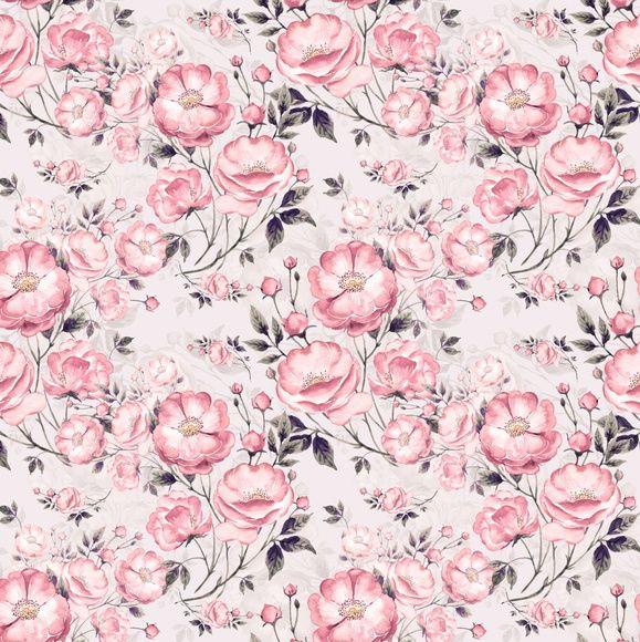 Papel de Parede Flores Floral 6D96D5