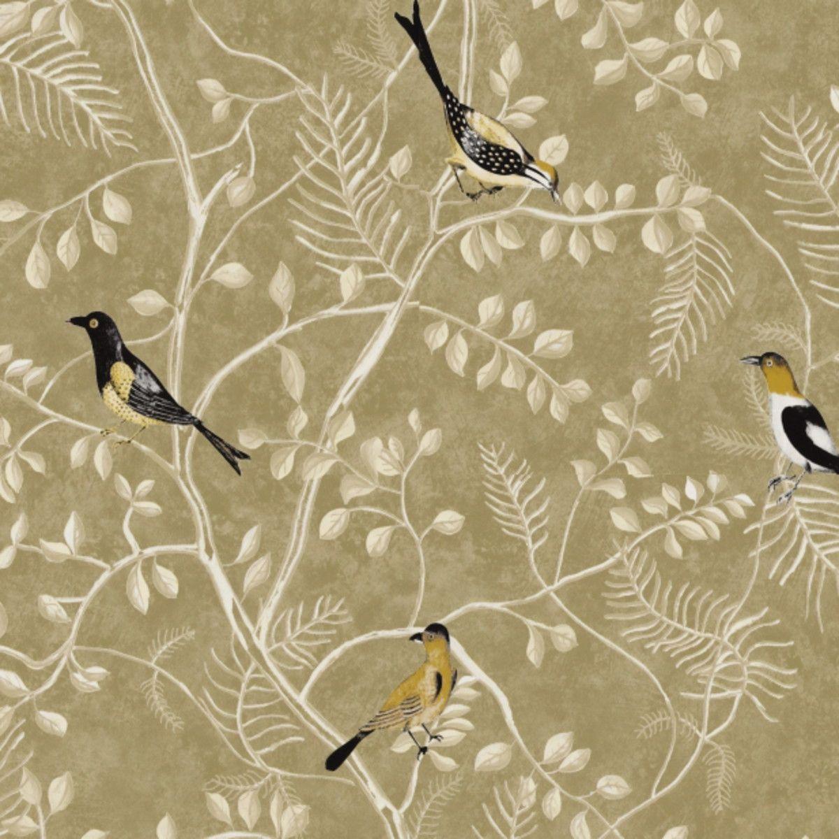 Papel de Parede Floral com Pássaros FF2695
