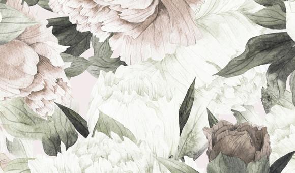Papel de Parede Floral Grande Aquarela E69054