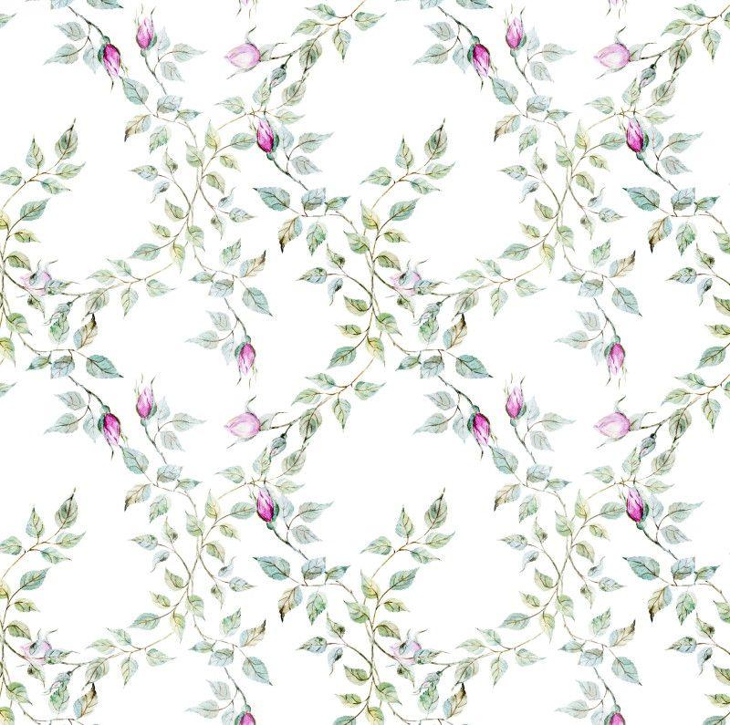 Papel de Parede Flores Floral Aquarela Rosas 698153